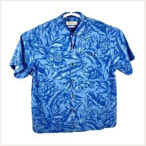 Tommy Bahama Original Fit Hawaiian Floral Shirt XL